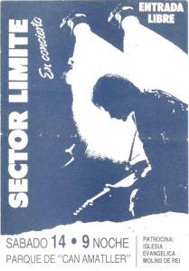 Concierto Sector Límite 14 de Junio de 1990.